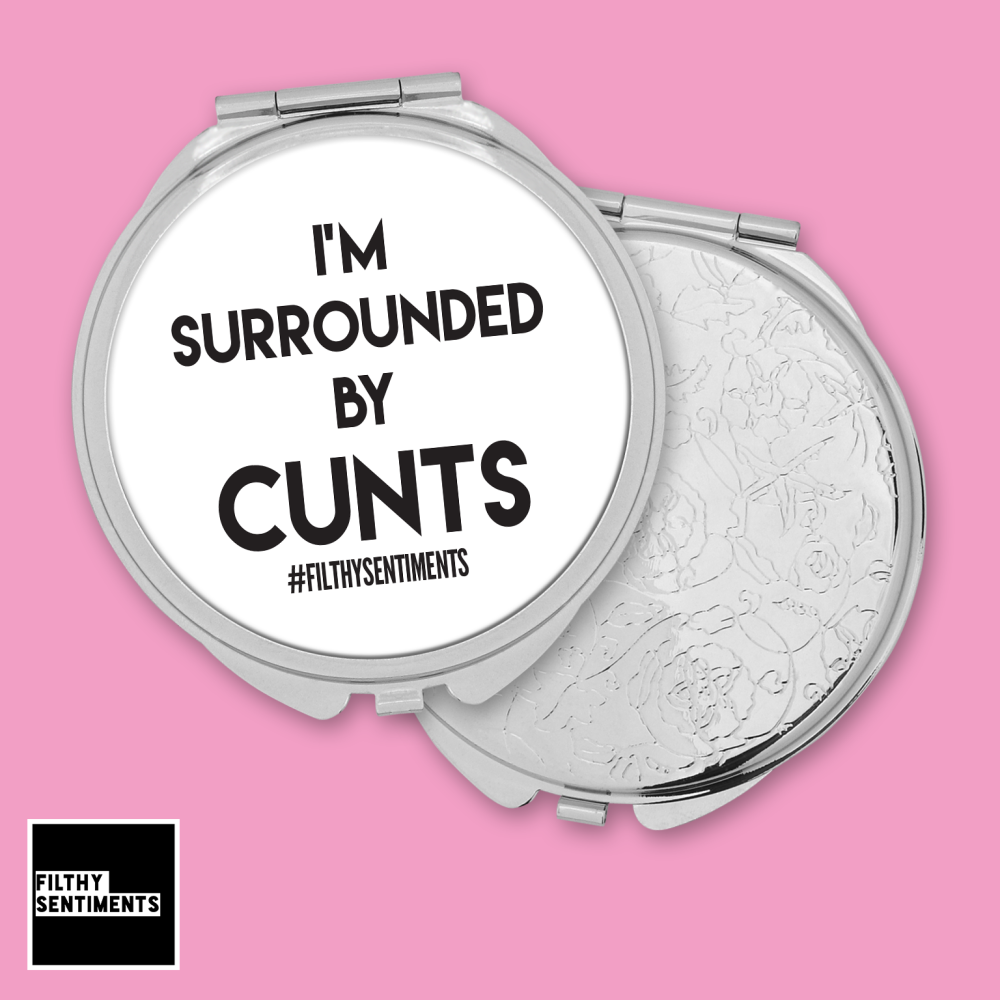 IM SURROUNDED BY CUNTS MIRROR - F00052