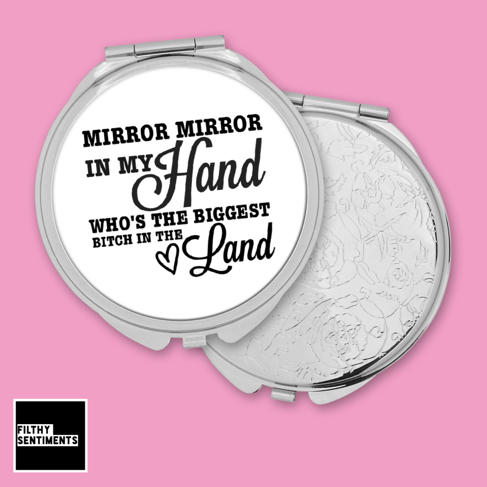 Mirror Mirror Bitch pocket mirror - F00043