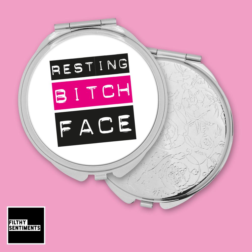 Resting Bitch Face pocket mirror - F00056