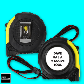 PERSONALISED MASSIVE TOOL TAPE MEASURE - TAPE002