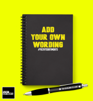 *ADD* YOUR OWN WORDING NOTEBOOK PERSONALISED - N023