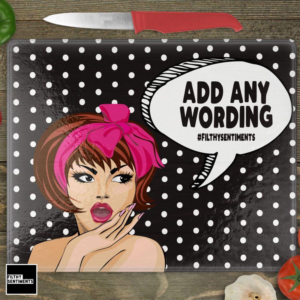 CHOPPING BOAD -  ADD ANY WORDING - CHOP003