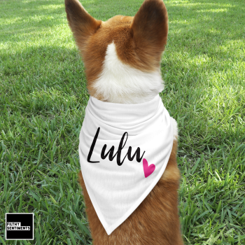 PERSONALISED PET BANDANA - PB002
