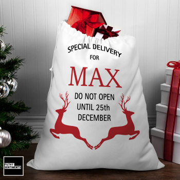 XMAS PERSONALISED LARGE SANTA SACK001