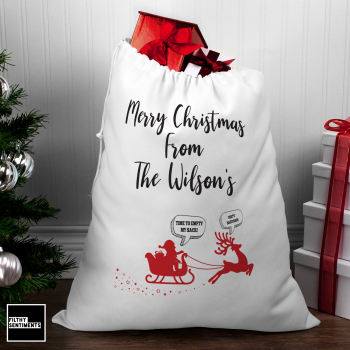 MERRY XMAS PERSONALISED LARGE SANTA SACK002