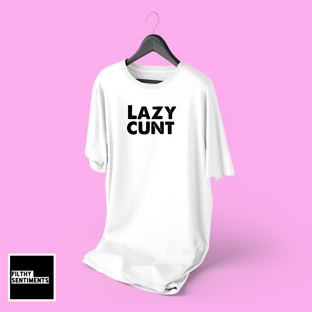 NIGHTIE (WHITE) - LAZY CUNT