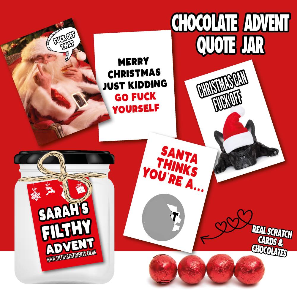 ADVENT CHOCOLATE QUOTE JAR
