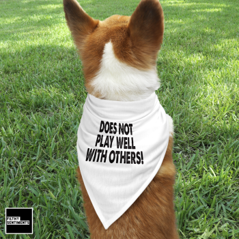 DOESN'T PLAY WELL WITH OTHERS PET BANDANA - PB007