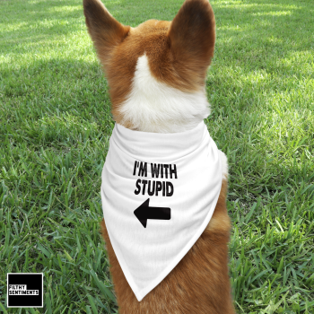 I'M WITH STUPID ARROW PET BANDANA - PB006