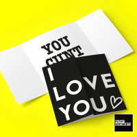 Hidden message I love you, cunt card - B0070 - FS703