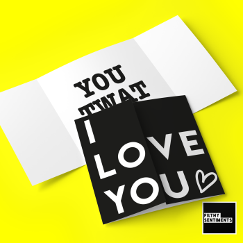 Hidden message I love you, twat card  - FS701 - G0048