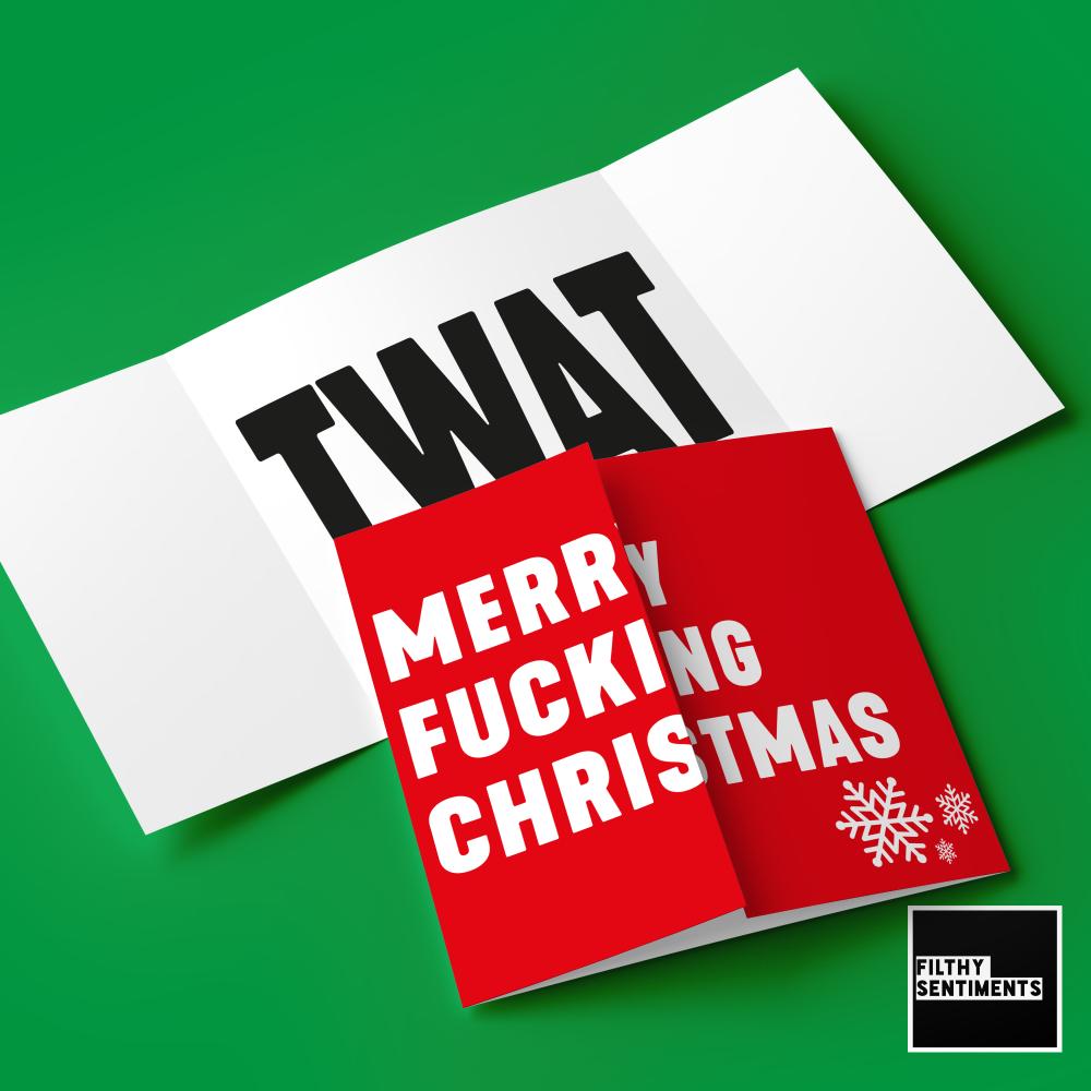 HIDDEN MESSAGE MERRY FUCKING CHRISTMAS TWAT - FS672