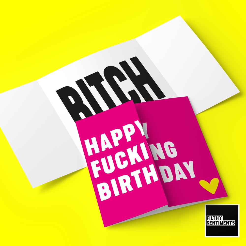 HIDDEN MESSAGE PINK BIRTHDAY BITCH - FS673