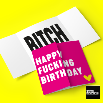 HIDDEN MESSAGE PINK BIRTHDAY BITCH - FS673 / H0051