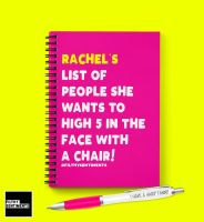PERSONALISED HIGH 5 IN THE FACE NOTEBOOK - N025