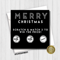 Merry Christmas Blowjob Scratch Card FS260 / FS261