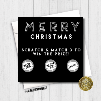 Merry Christmas Blowjob Scratch Card FS260 / FS261
