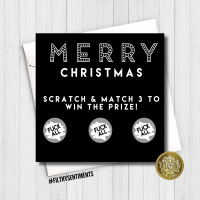 Merry Christmas Fuck All Scratch Card - XMAS11