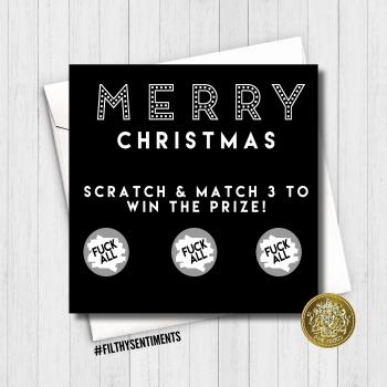 Merry Christmas Fuck All Scratch Card - XMAS11