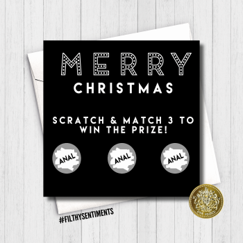 Merry Christmas ANAL Scratch Card FS674UN / FS675MA