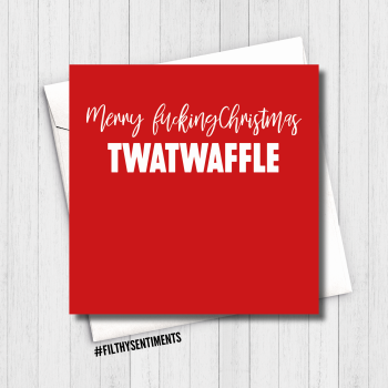 TWATWAFFLE XMAS CARD - FS818