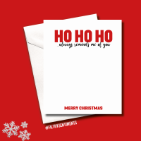 MINI HO HO HO CHRISTMAS CARD PACK - FS679 (MINI)