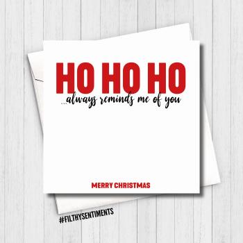 HO HO HO XMAS CARD - FS679