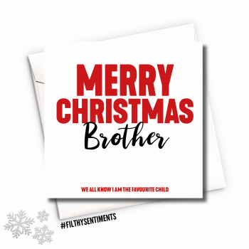BROTHER XMAS CARD - FS684