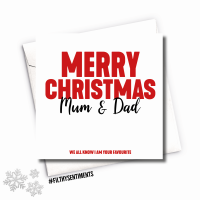 MUM & DAD XMAS CARD - FS682