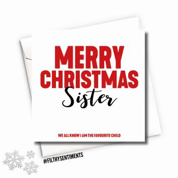SISTER XMAS CARD - FS683