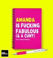 FABULOUS CUNT PERSONALISED NOTEBOOK - N032