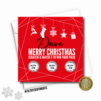 PERSONALISED CHRISTMAS SCRATCH CARD  - FS374