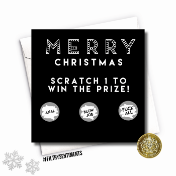 Merry Christmas Roulette Scratch Card XMAS15
