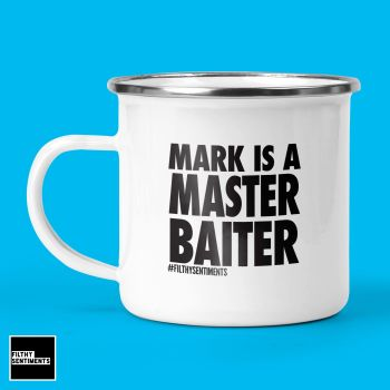 PERSONALISED ENAMEL METAL MUG - FISHING MASTER BAITER 220
