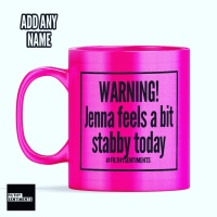 *NEW* WARNING STABBY MUG