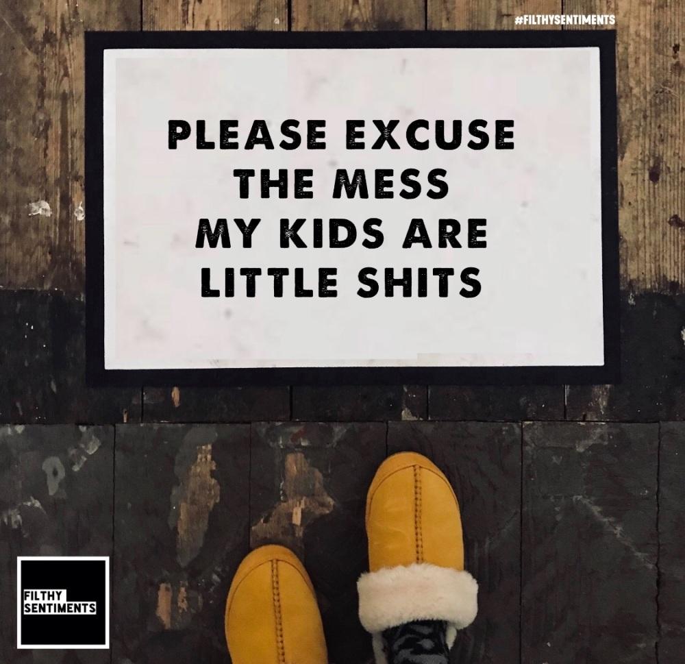 LITTLE SHITS DOOR MAT