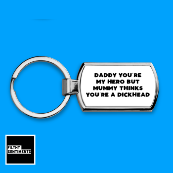 DADDY HERO KEYRING