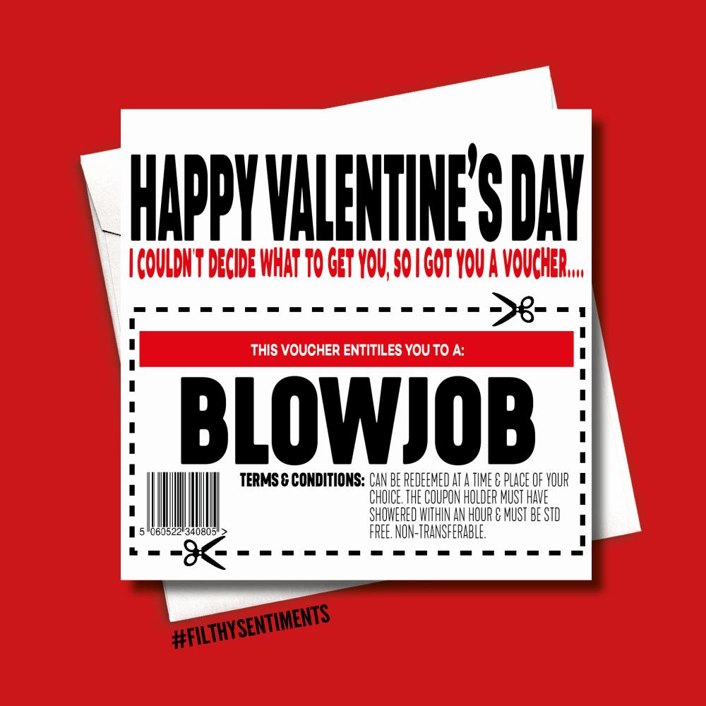 BLOWJOB VOUCHER VALENTINES CARD - FS705