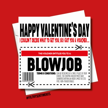 BLOWJOB VOUCHER VALENTINES CARD - FS1001/ B0062