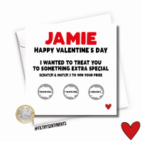 VALENTINES PERSONALISED BLOWJOB SCRATCH CARD PER33