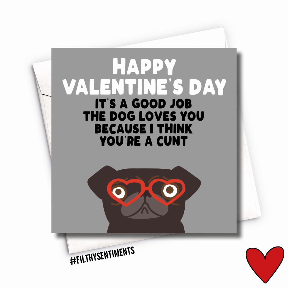PUG CUNT CARD - FS1009