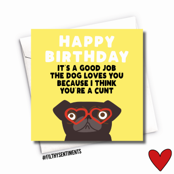 BIRTHDAY PUG CARD - FS1010/ G0080