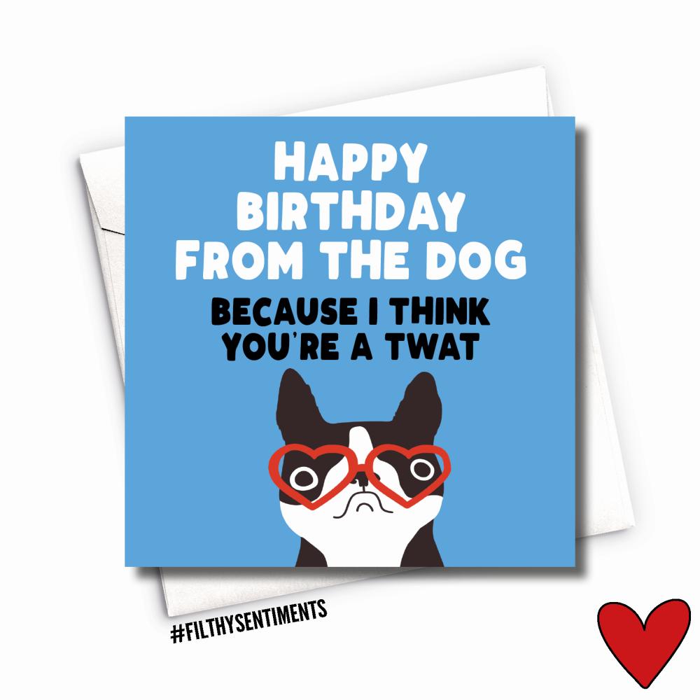TWAT DOG CARD - FS1011