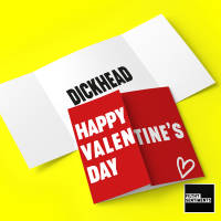 HIDDEN MESSAGE VALENTINES DICKHEAD - FS1014