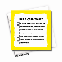 A CARD TO SAY - FS1029