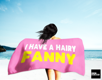 HAIRY FANNY PINK TOWEL / K038