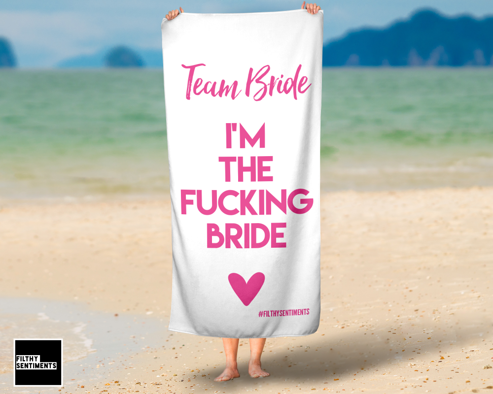 I'M THE BRIDE ONE TOWEL