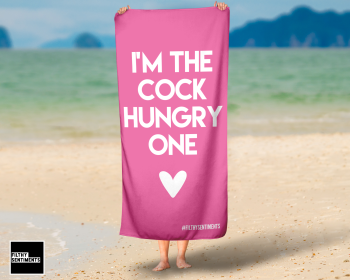 I'M THE COCK HUNGRY ONE PINK TOWEL / K025