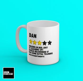 FUNNY PERSONALISED STAR REVIEW MUG 235