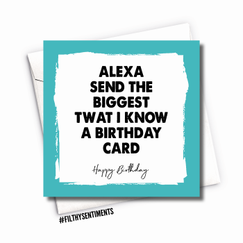 BIRTHDAY ALEXA CARD - FS1056 / R0050